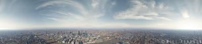 360 view from the top of The Shard