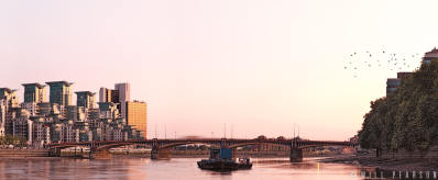 Fleeting Bus Vauxhall Bridge