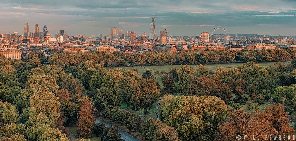 London Landmarks Autumn Evening