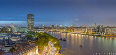 Millbank Night Panorama