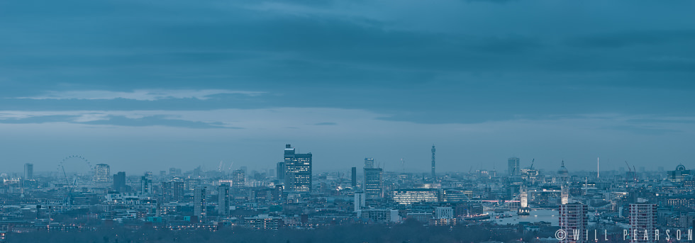 Skyline with Tower Bridge, Dusk