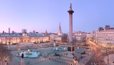 Trafalgar Square at Twilight