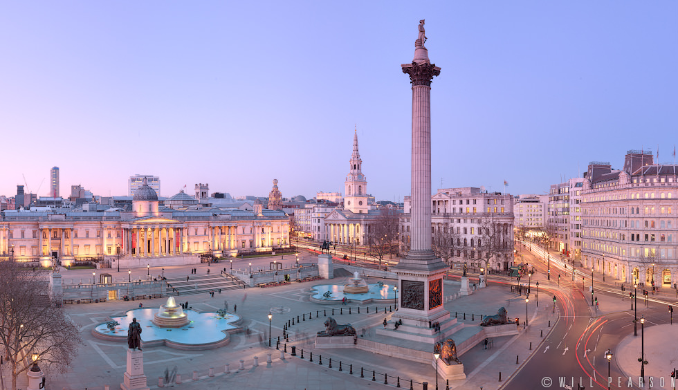 Trafalgar Square at Twilight