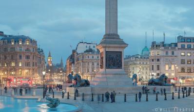 Trafalgar Square looking toward Westminster