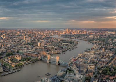 The Shard View Looking East, Sunset