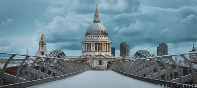St Pauls and the Millennium Bridge