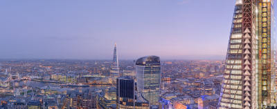 London from 30 St Mary Axe, Twilight