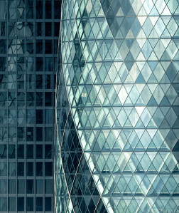 30 St Mary Axe and St Helens Close Up